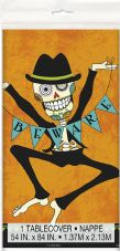 1 Day Of The Dead 'Beware' Plastic Tablecover